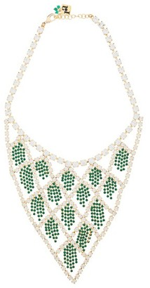 Rosantica By Michela Panero - Divinita Crystal Necklace - Womens - Green