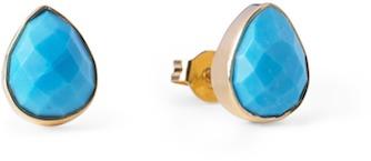 Margaret Elizabeth - Teardrop Micro Studs Turquoise