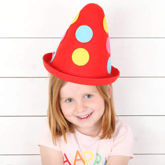 red berry apple Felt Clown Oversized Party Hat