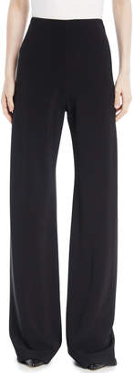 Rosetta Getty High-Waist Wide-Leg Stretch-Cady Trousers