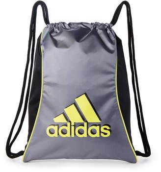 adidas Grey & Yellow Drawstring Backpack