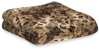 Safari Fur Throw Blanket - Lynx