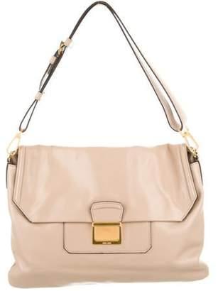 Miu Miu Vitello Soft Flap Shoulder Bag gold Vitello Soft Flap Shoulder Bag