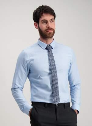 Tu Light Blue Slim Fit Oxford Shirt & Floral Tie