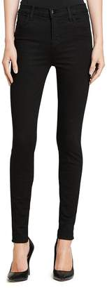J Brand Maria High-Rise Skinny Jeans in Seriously Black