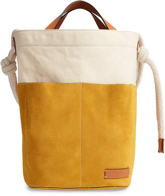 Rag & Bone Walker Convertible Suede & Canvas Sling Tote