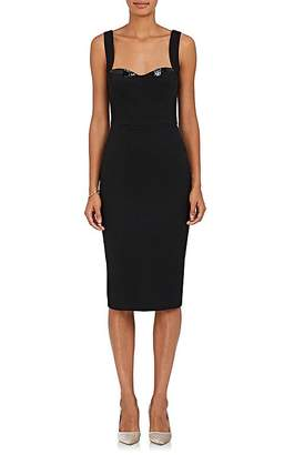 Victoria Beckham Women's Sequin-Embellished Crepe Sheath Dress