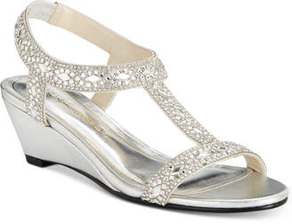 Caparros Lala Embellished Evening Wedge Sandals Women's Shoes