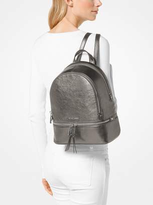 MICHAEL Michael Kors Rhea Medium Metallic Leather Backpack