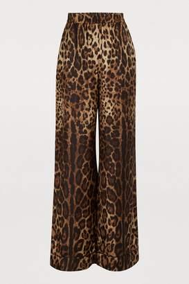 343fff34783f Dolce & Gabbana Leopard print silk pants