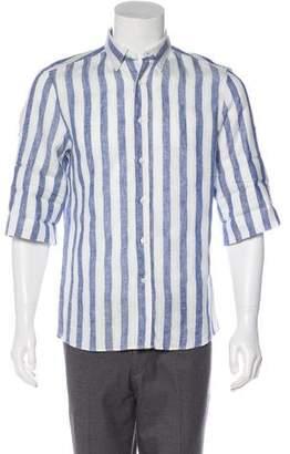 Brunello Cucinelli Striped Linen Shirt