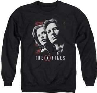 Scully X Files X-Files Horror Sci-Fi Thriller TV Series Mulder & Adult Crew Sweatshirt