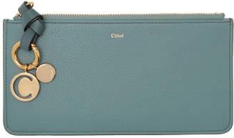 Chloé Blue Alphabet Flat Wallet