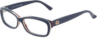 Gucci Rectangular Acetate Optical Glasses