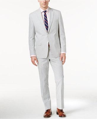 Lauren Ralph Lauren Men's Blue Seersucker Ultraflex Classic-Fit Suit $550 thestylecure.com