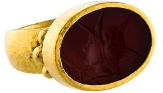 Gurhan 24K Carved Carnelian Cocktail Ring