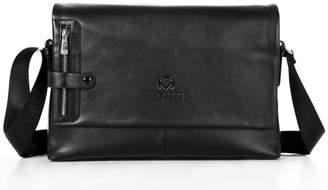 Mn&Sue Mens Messenger Satchel PU Leather Shoulder Crossbody Bag Business Briefcase Office Side Bag