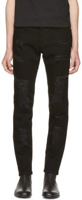 Versus Black Destroyed Jeans