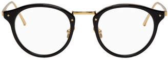 Linda Farrow Luxe Gold and Black 808 C1 Glasses