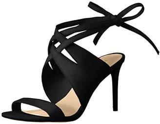 Nine West Women's Ronnie Suede Dress Sandal, Black, (9 M US)