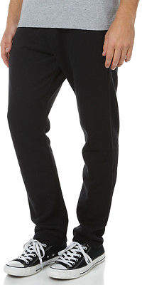 Swell New Men's Basic Mens Track Pant Cotton Polyester Black