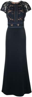 Tadashi Shoji lace panel gown