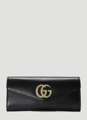 Gucci Broadway Leather Clutch Bag in Black