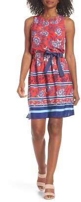 Eliza J Built-In Tie Fit & Flare Dress (Regular & Petite)