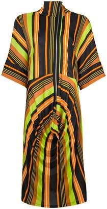 J.W.Anderson draped skirt striped dress