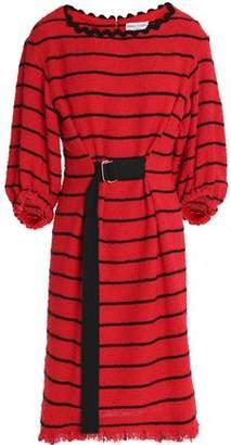 Sonia Rykiel Belted Striped Cotton-Blend Tweed Dress