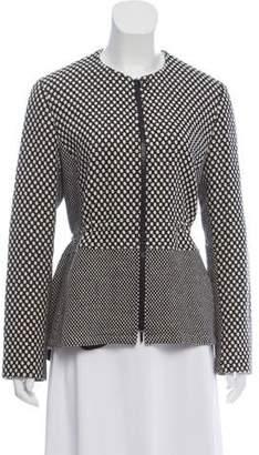 Akris Punto Wool-Blend Printed Jacket