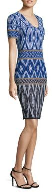 St. John Patterned Wool-Blend Dress $995 thestylecure.com