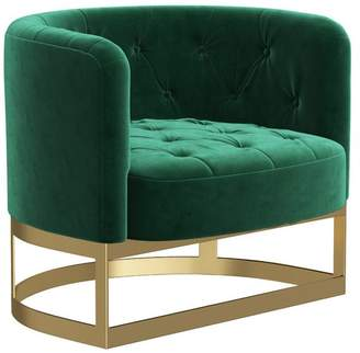 M.O.D. Pacey Green Tufted Velvet Accent Chair