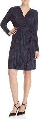 Vince Camuto Pleated Belted Wrap Dress