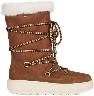 Geox Amphibiox Kaula Faux Fur-Lined Tall Winter Boots