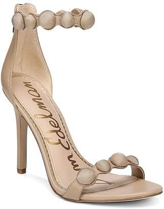 Sam Edelman Women's Addison Suede High Heel Ankle Strap Sandals
