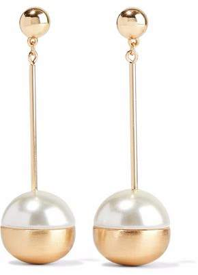 Kenneth Jay Lane Gold-Tone Faux-Pearl Earrings