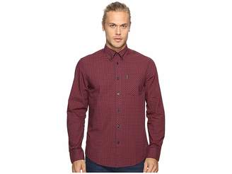 Ben Sherman Long Sleeve Gingham Woven Shirt Men's Long Sleeve Button Up