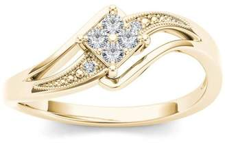 Imperial Diamond Imperial 1/10 Carat T.W. Diamond Split Shank Bypass 10kt Yellow Gold Engagement Ring