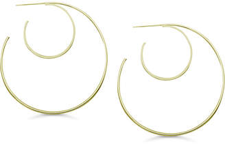 Essentials Large Double Circle Hoop Earrings in Silver or Gold-Plate