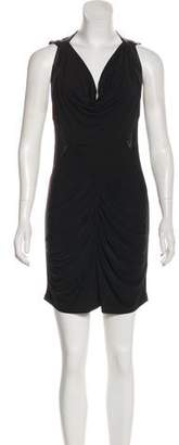 Yigal Azrouel Cut25 by Leather-Trimmed Mini Dress