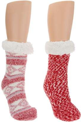 Cuddl Duds Sherpa Lined Cabin Sock Set of 2