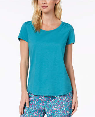 Charter Club Cotton Short-Sleeve Pajama Top