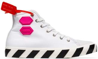 Off-White white Vulcanised hi top sneakers