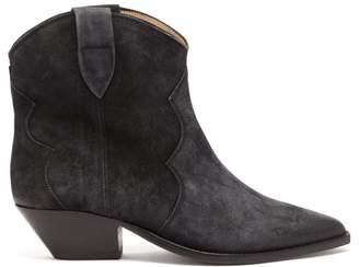 Isabel Marant Dewina Western Suede Boots - Womens - Black