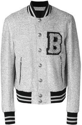 Balmain glitter bomber jacket
