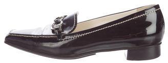 pradaPrada Patent Leather Chain-Link Loafers