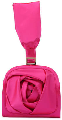 Roger Vivier Rose Bracelet Clutch Bag, Hot Pink
