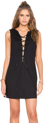 KENDALL + KYLIE Lace Front Dress $168 thestylecure.com