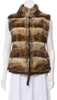 Adrienne Landau Cashmere Fur Reversible Vest